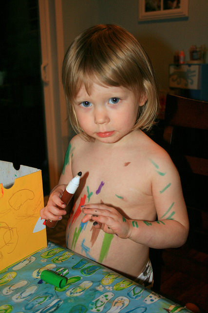 markers and mess