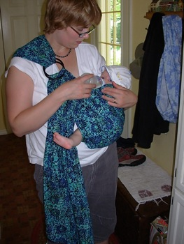 Bottle-feeding in a Sling