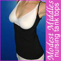 Modest Middles nursing tank tops ad