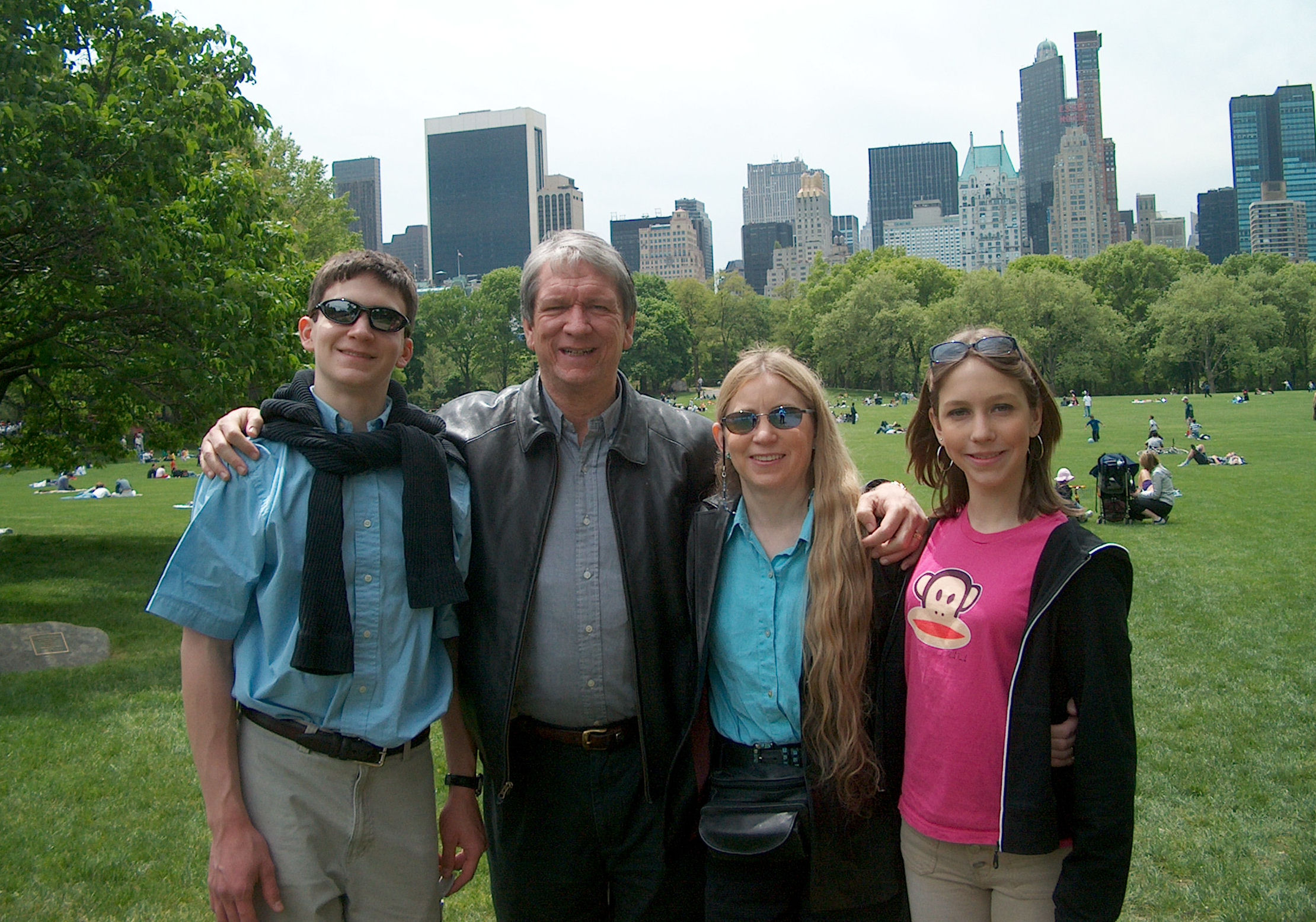 Will, Terry, Deb, and Christina in Central Park