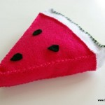 Mama's Felt Cafe Felt Watermelon Tutorial