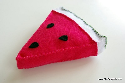 Felt Watermelon Tutorial 1