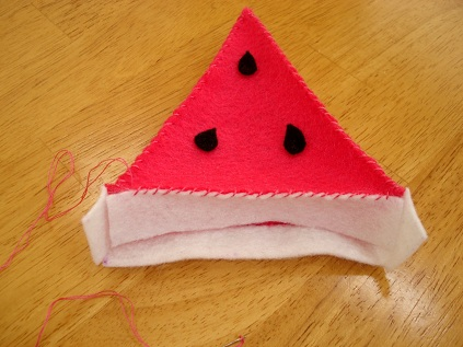 Felt Watermelon Tutorial 11