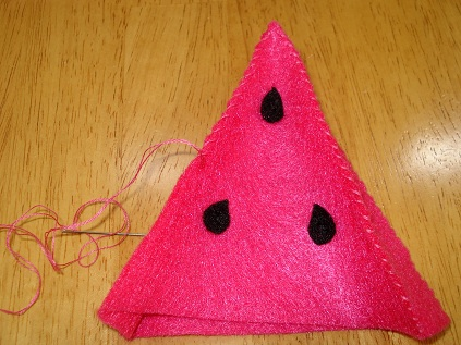 Felt Watermelon Tutorial 7