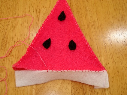 Felt Watermelon Tutorial 9