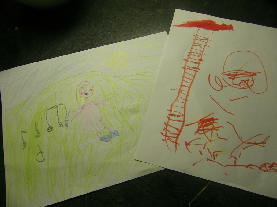 My kids' musical drawings.