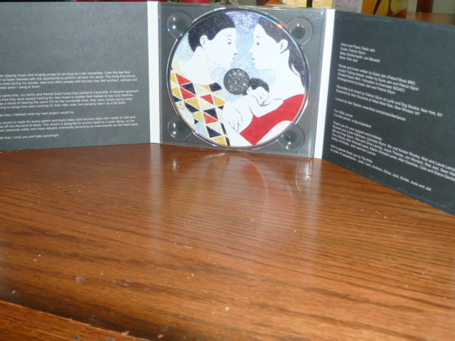The CD itself and the inside of the case