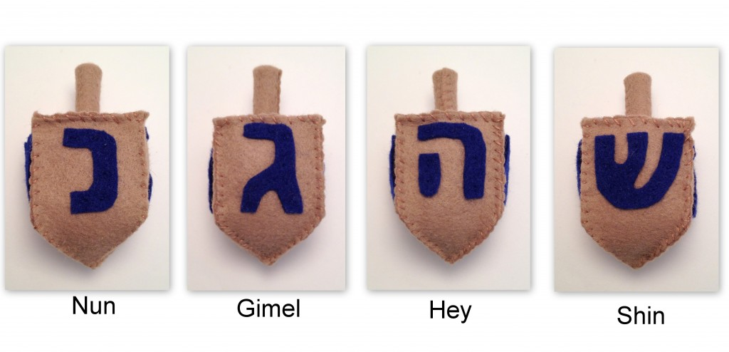 dreidel sides collage