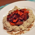 Mashed Parsnip Nest With Cajun Sausage and Carrots