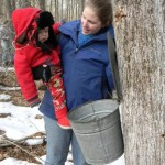Joshua learns about maple sugaring in February 2011