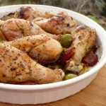 Chicken Thighs With Olives and Apricots (gluten free, dairy free)