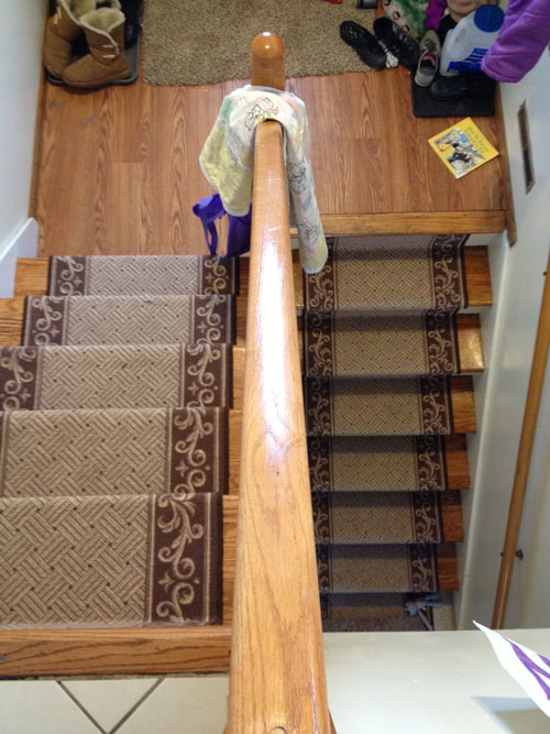At Home Exercise Using My Stairs For Strength Natural