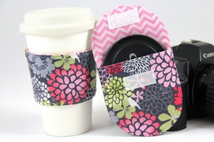 coffee sleeve and lens cap pocket from Crafty Staci