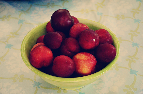 Easy plums from our trees...benign neglect never tasted so good.