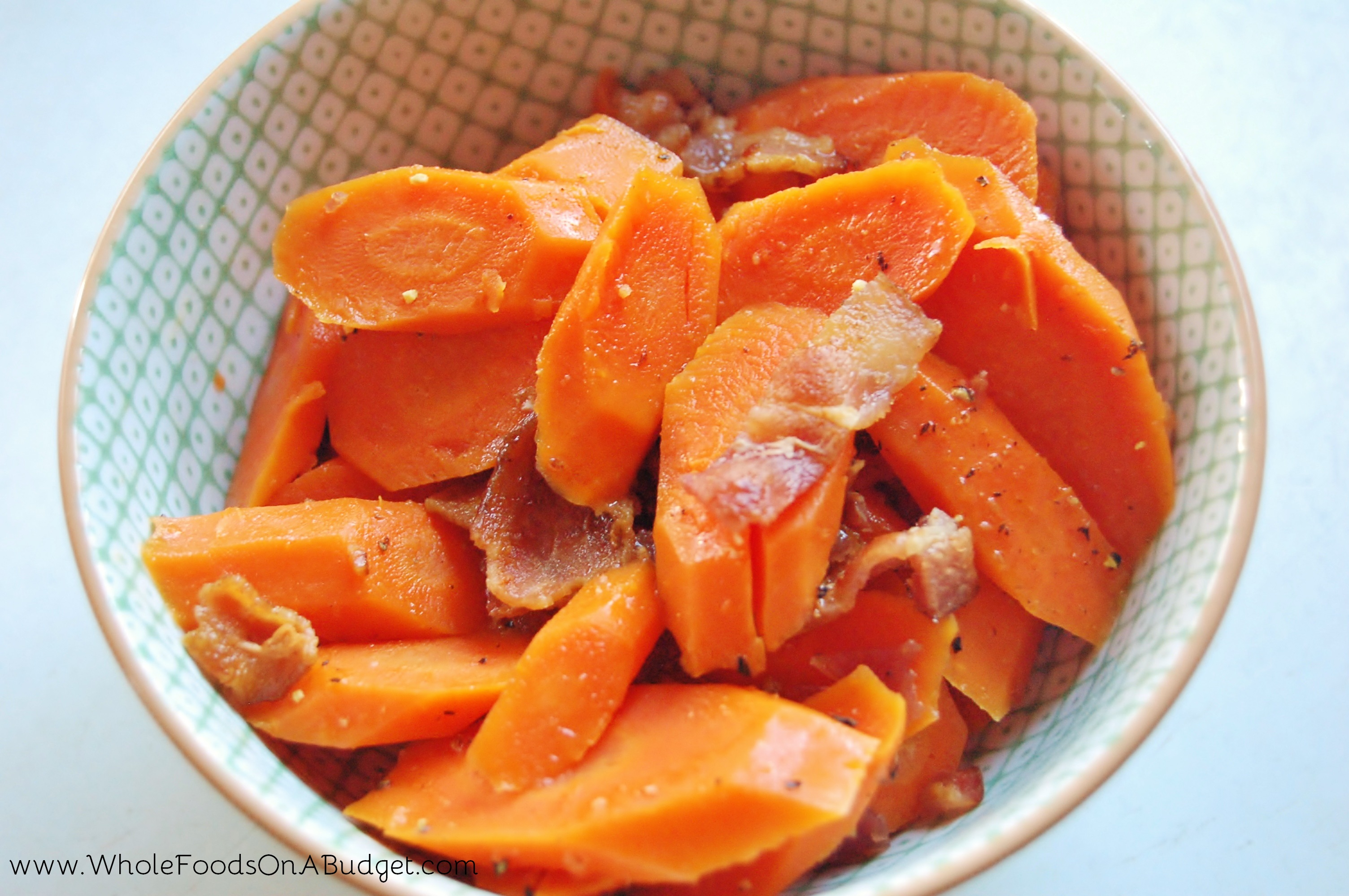 Sweet & Savory Carrots with Bacon