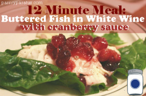 Buttered Fish in White Wine with Homemade Cranberry Sauce